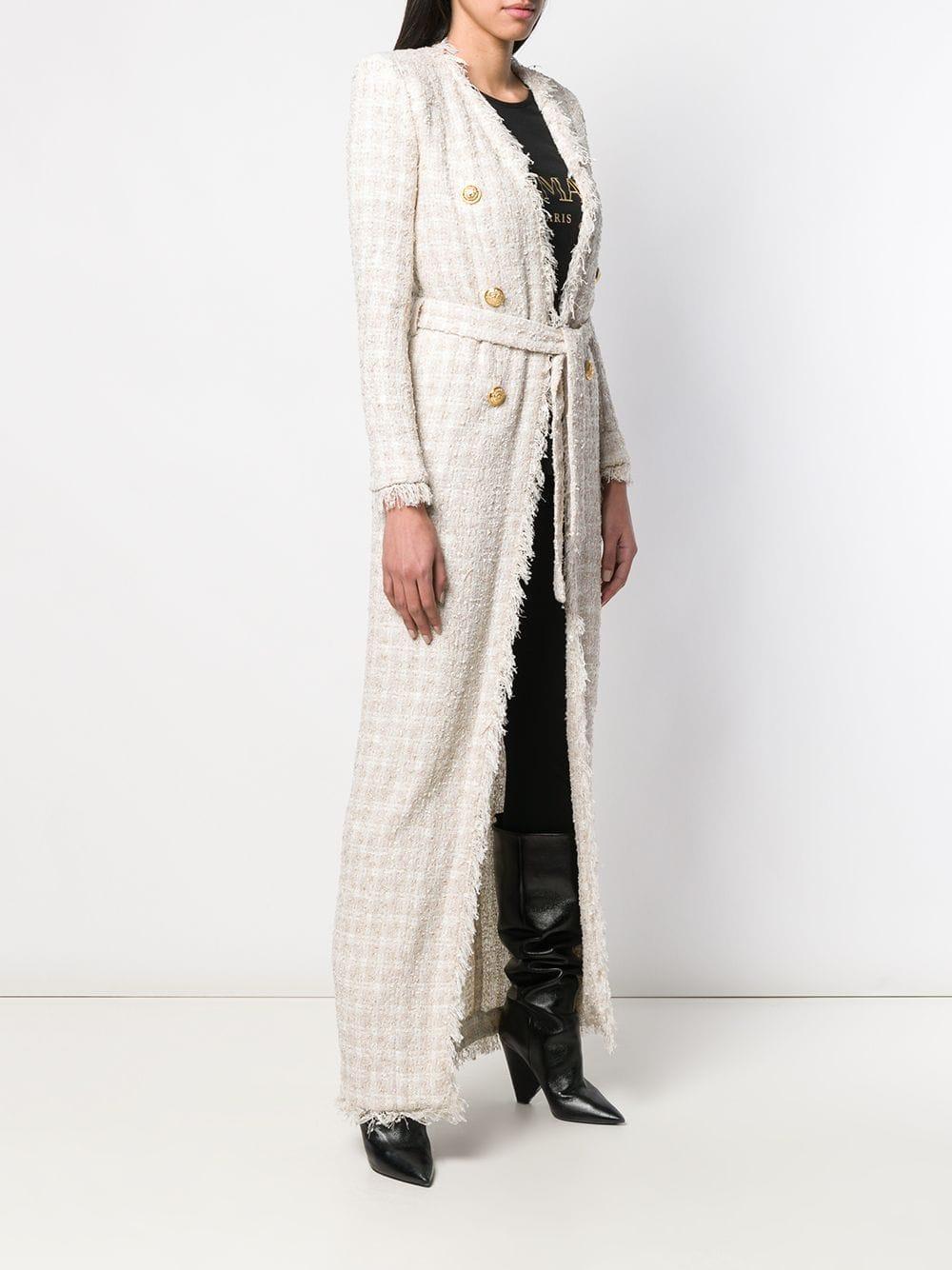 Manteau à taille ceinturée Balmain 1XMra