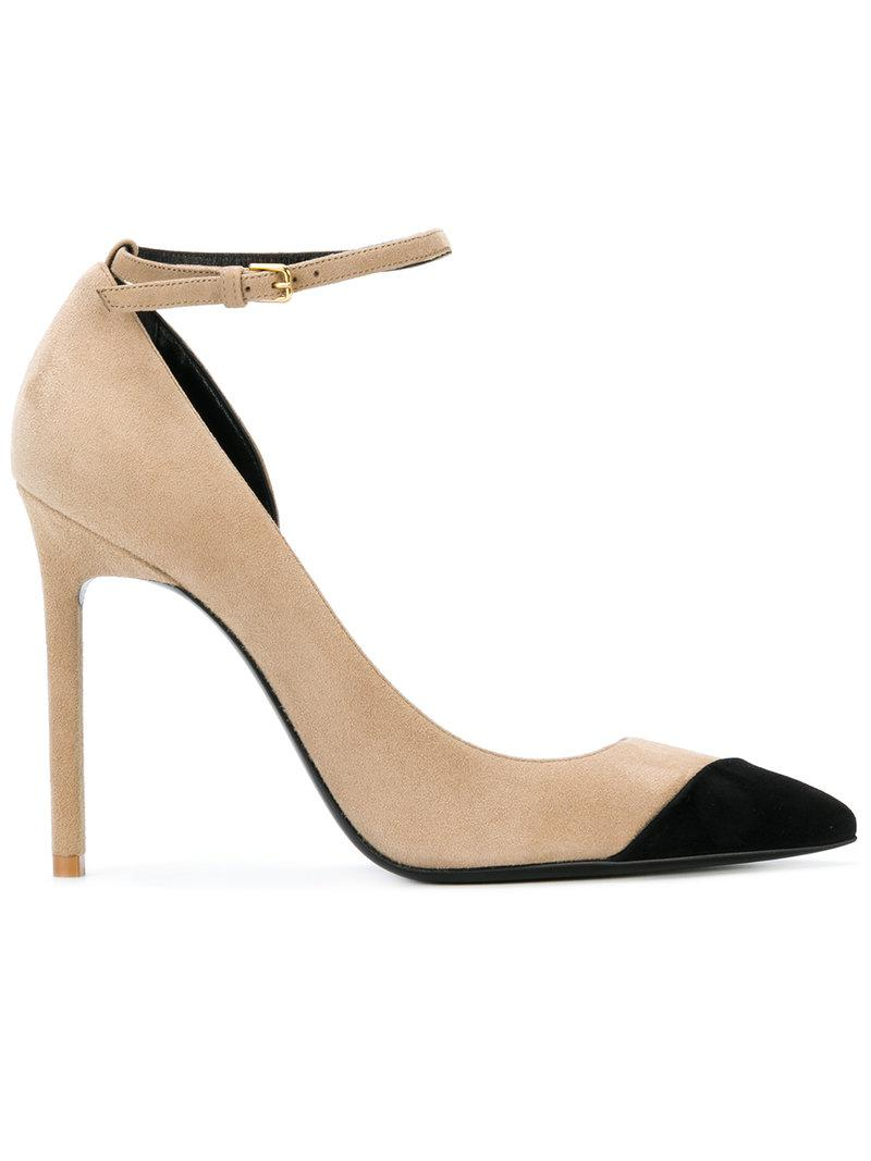 Saint Laurent Contrast toe pumps
