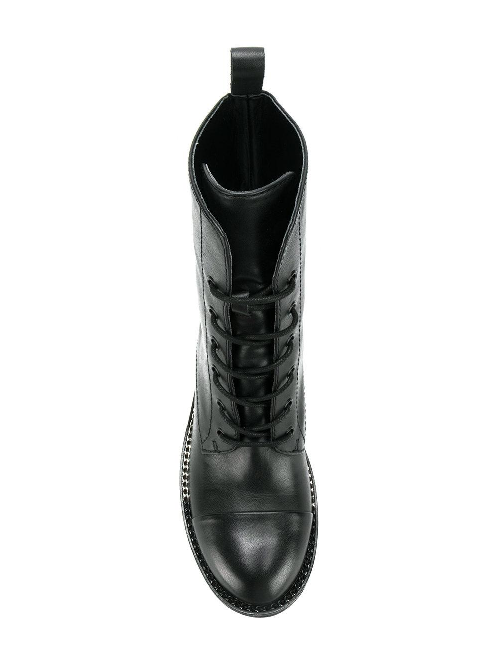 Kendall + Kylie Leather Park Biker Boots in Black