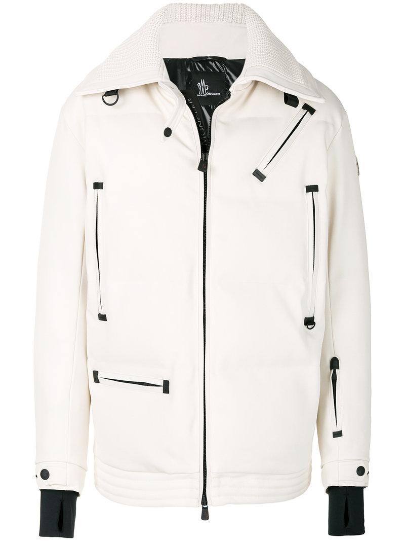 2daa32fb333c Lyst - Moncler Grenoble Multi-pocket Padded Jacket in White for Men