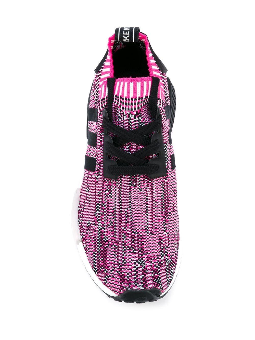Zapatillas NMD_R1 adidas de Tejido sintético de color Rosa