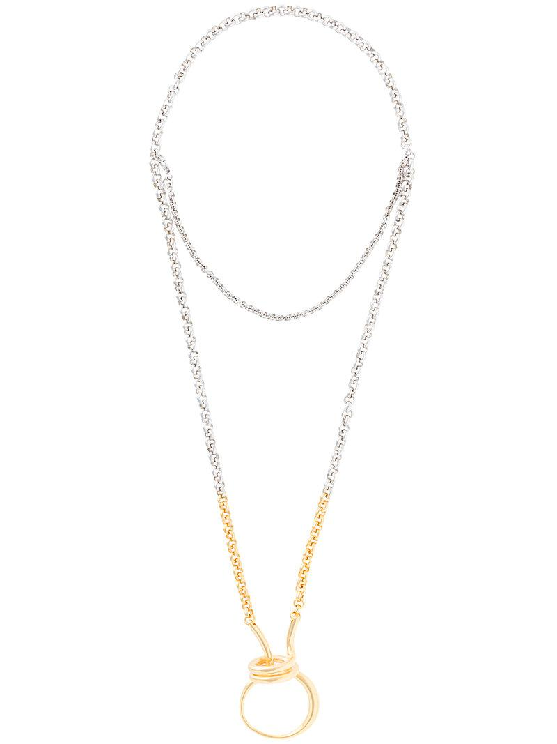 Charlotte Chesnais Briska necklace - Metallic xXEE3