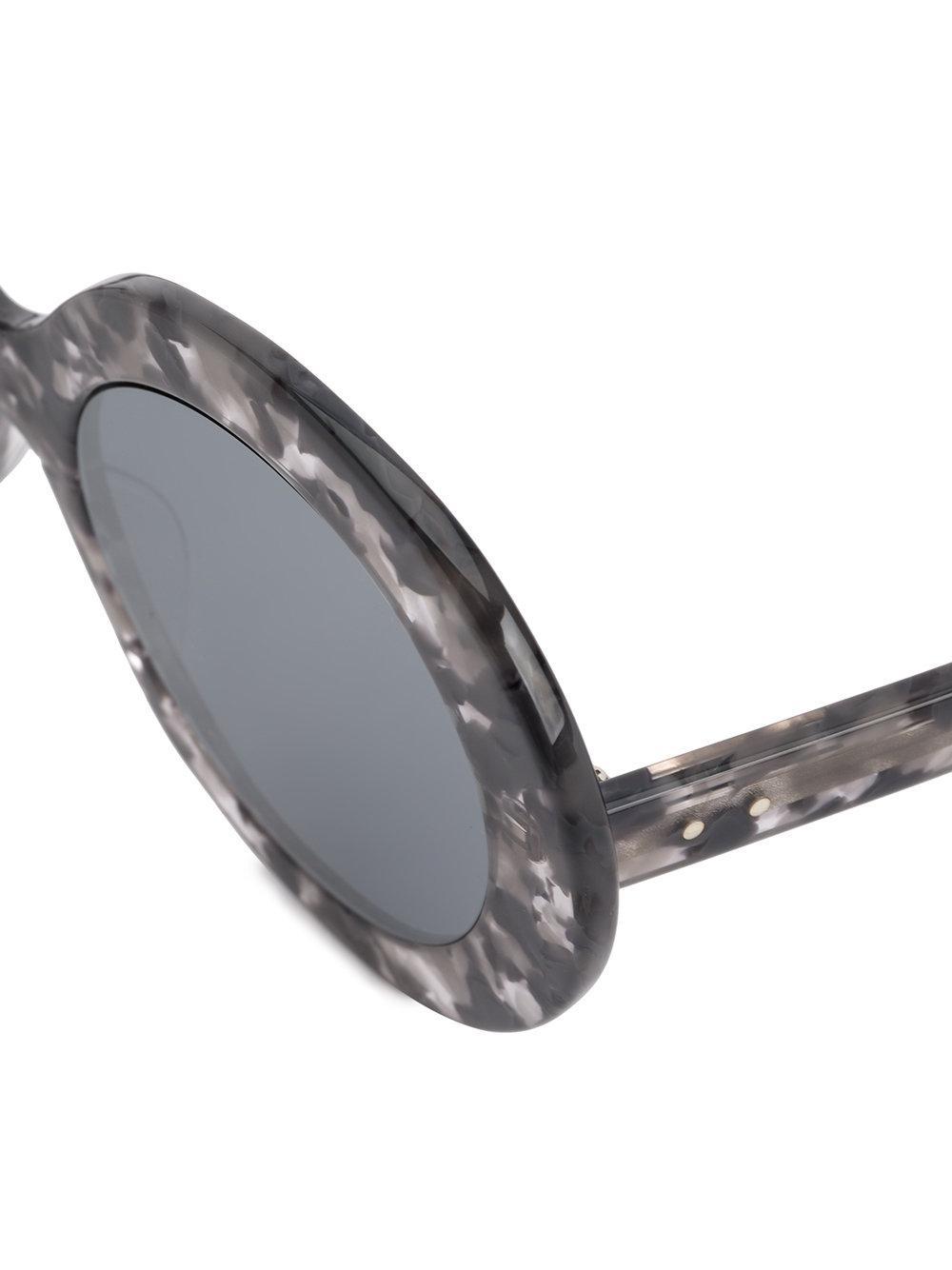 Thom Browne Retro Tortoise Shell Sunglasses in Grey (Grey)