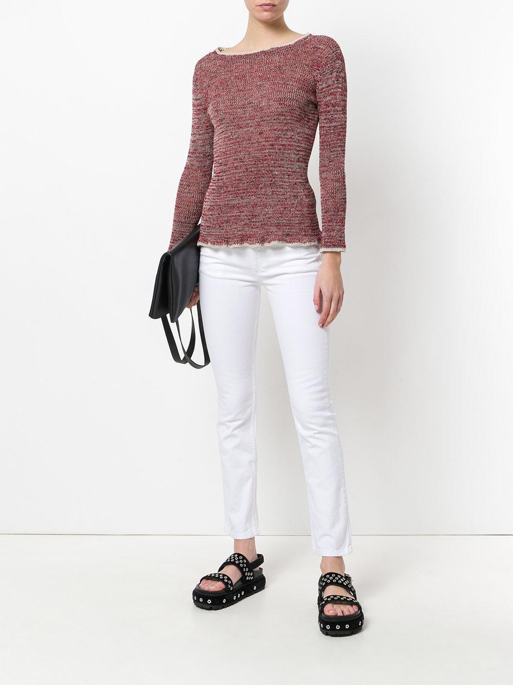 Étoile Isabel Marant Denim Slim Fit Jeans in White