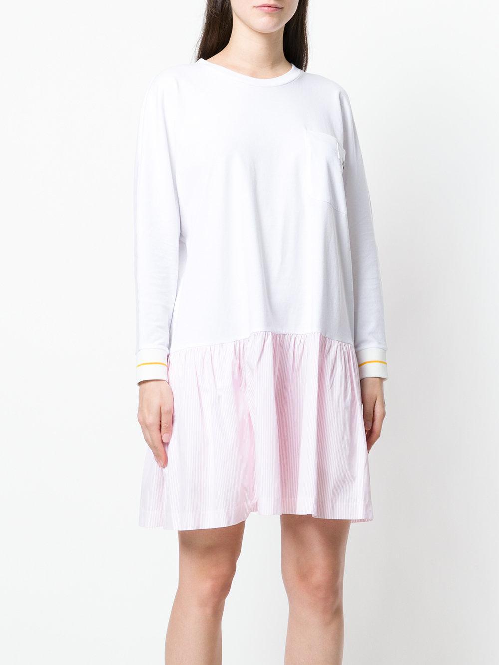 pinstripe detail dress - White Miu Miu X5FWt7GR