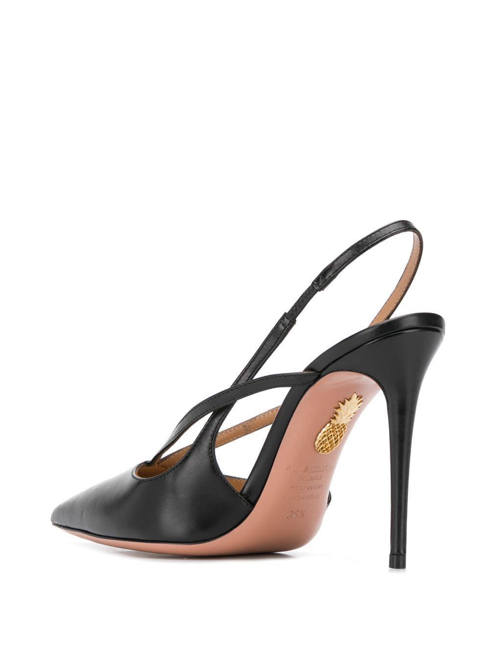 Zapatos de tacón Soul Aquazzura de Cuero de color Negro