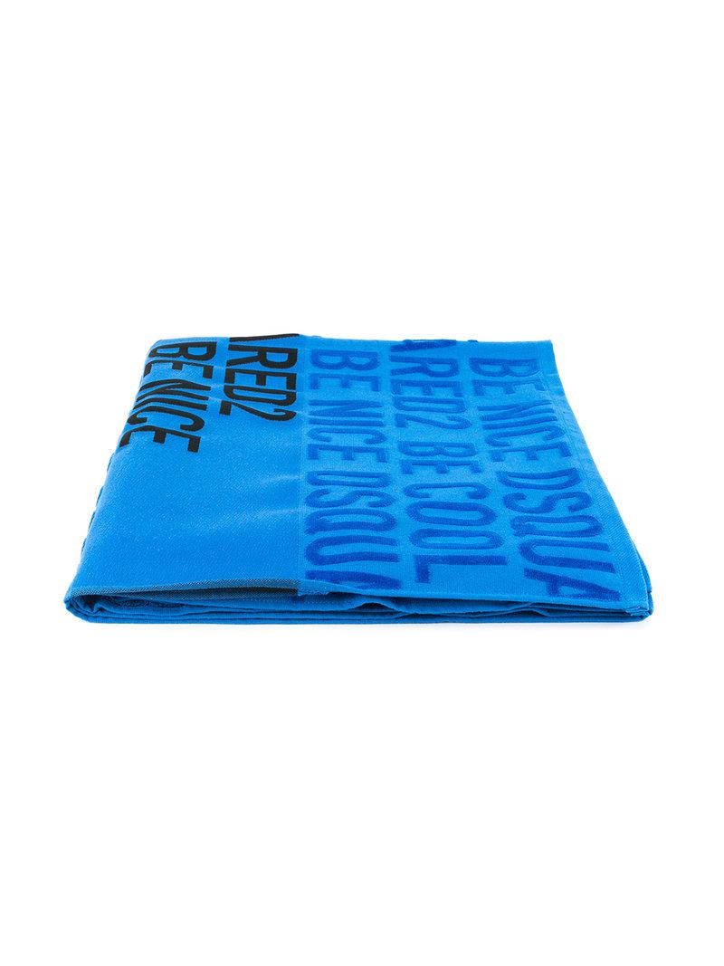 Dsquared² Men S Blue Be Cool Nice Beach Towel