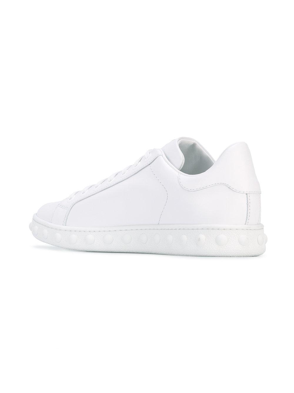 Moncler Rubber Fifi Sneakers in White