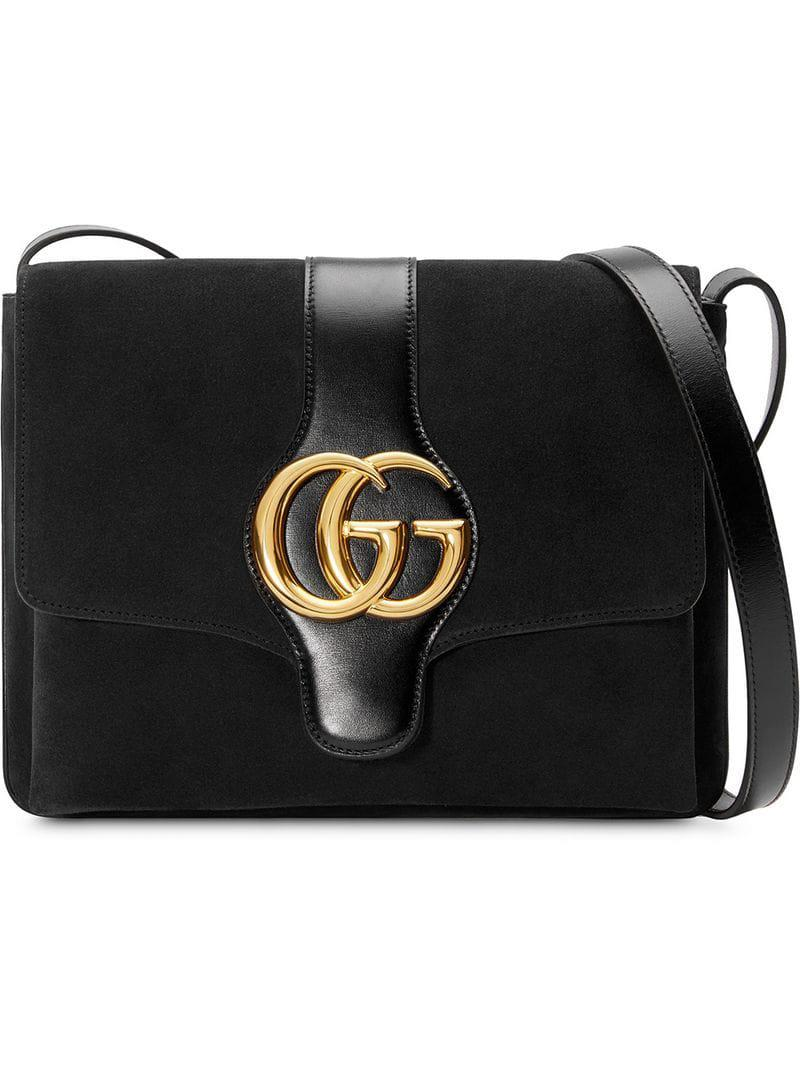 e05883640df0 Lyst - Gucci Arli Medium Shoulder Bag in Black - Save 6%