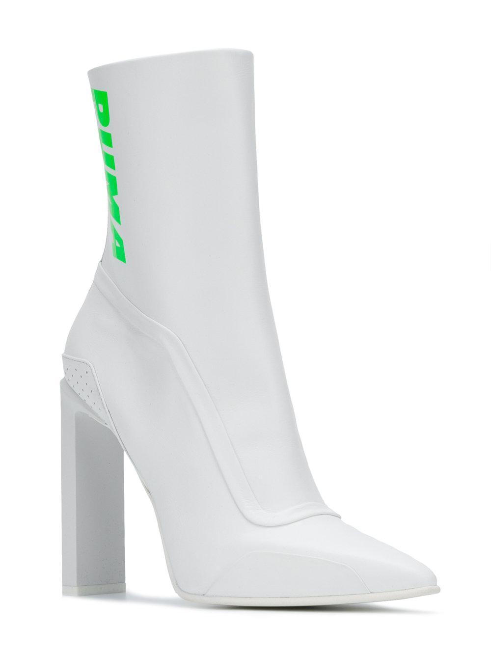 57829110fa3e Lyst - PUMA Logo Print Ankle Boots in White