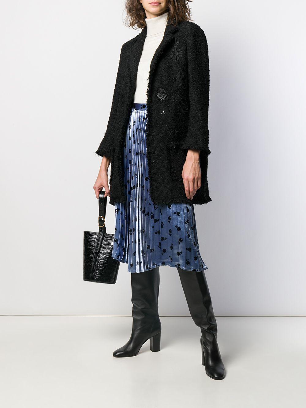 Manteau en tweed métallisé Edward Achour Paris en coloris Noir UMKv7