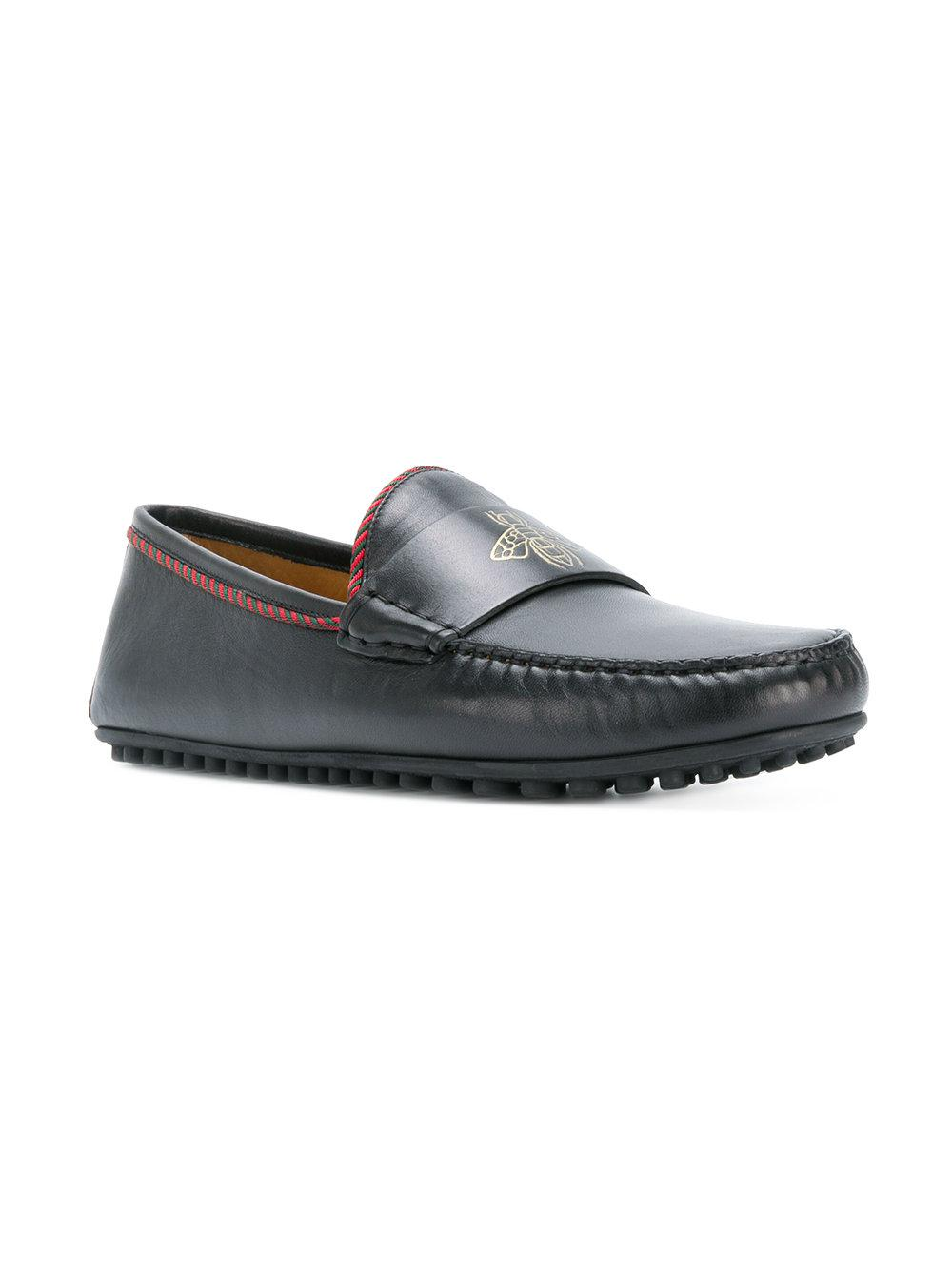 32f375a42 Gucci Kanye Bee Keeper Driving Shoes in Black for Men - Lyst