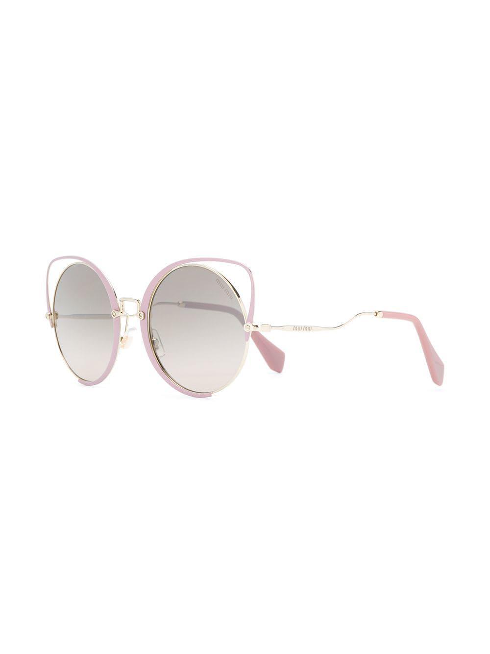 7a08db36a40 Miu Miu Scenique Sunglasses in Pink - Lyst