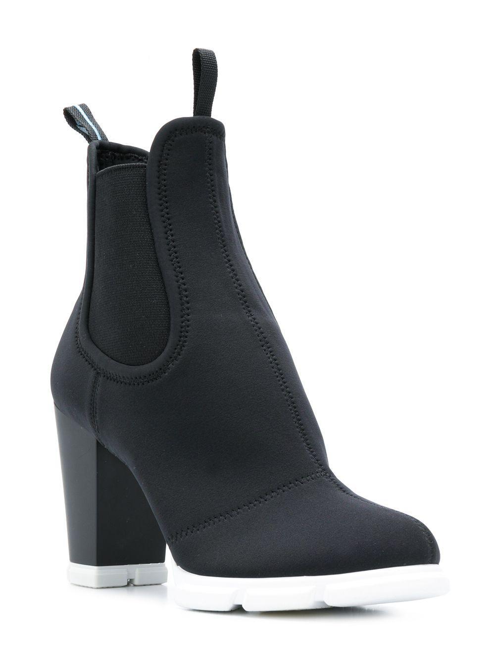 8f1addeb8e59 Lyst - Prada Scuba Ankle Boots in Black