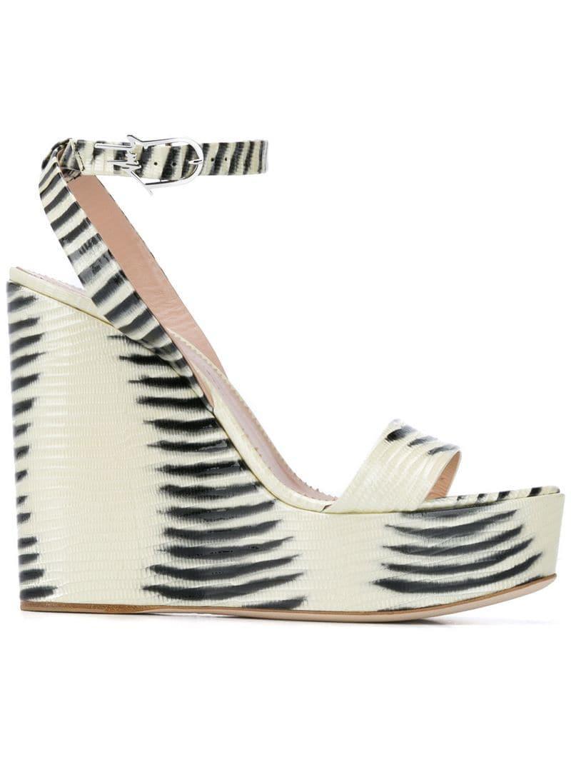 d127e4fc51c Lyst - Giuseppe Zanotti Betty Wedge Sandals in White