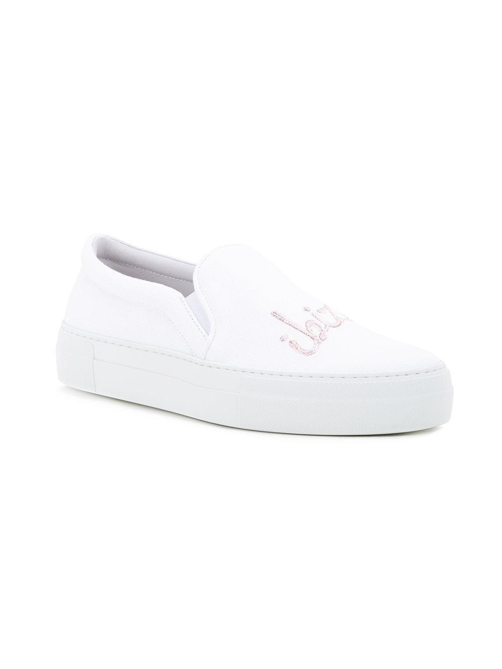 Joshua Sanders Cotton Ibiza Slip-on Sneakers in White