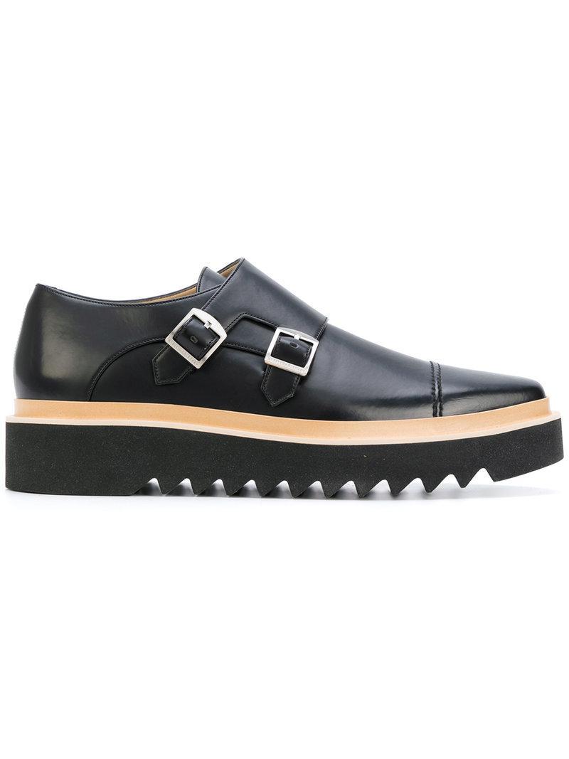 d3905ea3d61 Stella Mccartney Buckle Brogue Shoes in Black for Men - Lyst