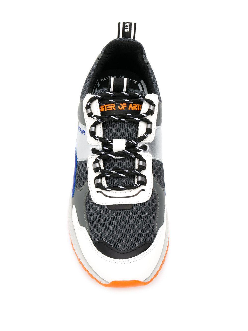 Zapatillas con diseño colour block y cordones MOA de Cuero de color Gris para hombre