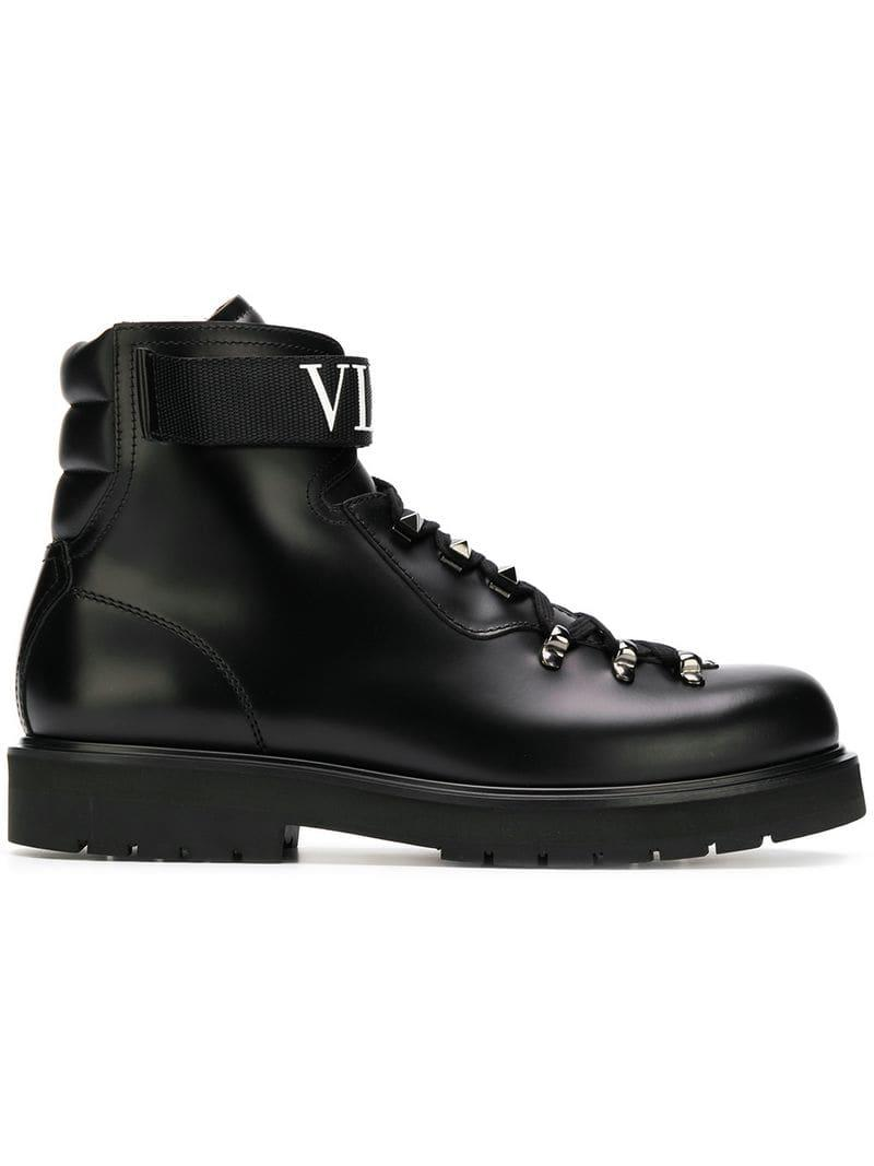 a8fea29a6cd0c Valentino Garavani Vltn Boots in Black for Men - Save 29% - Lyst