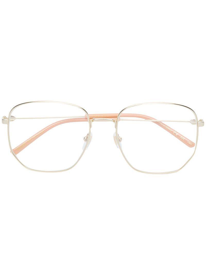 8b881a69d93 Gucci Rectangular Frame Glasses in Metallic - Lyst