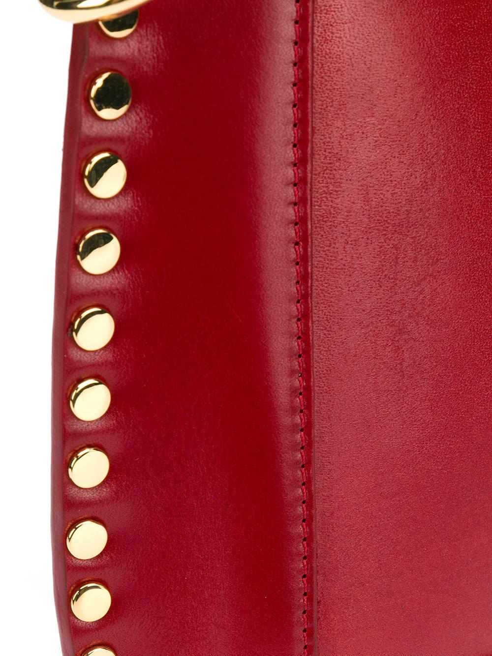 Isabel Marant Leather Mini Crossbody Bag in Red