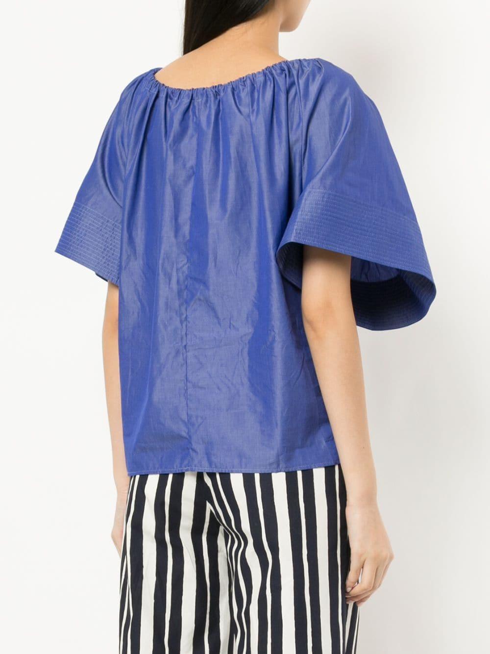 Blouse à lien de resserrage Coton Martin Grant en coloris Bleu