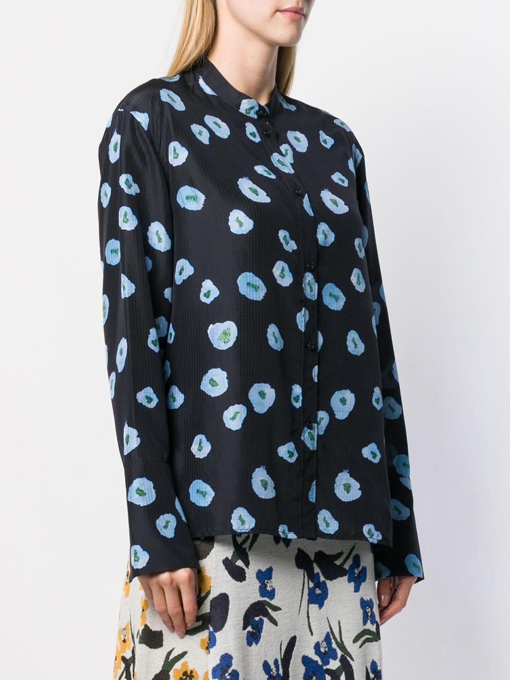 Camisa con motivo floral Christian Wijnants de Seda de color Azul