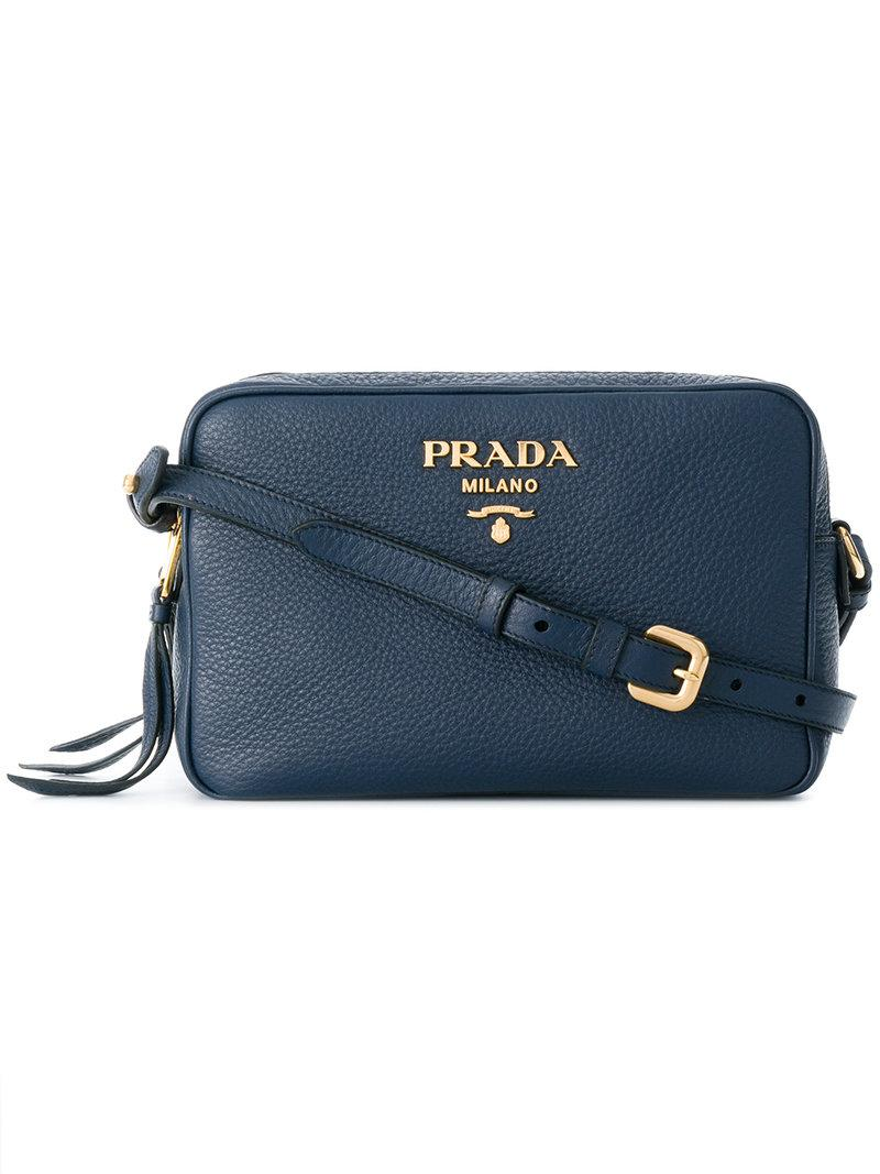 logo plaque crossbody bag - Black Prada 2E6TgitQ