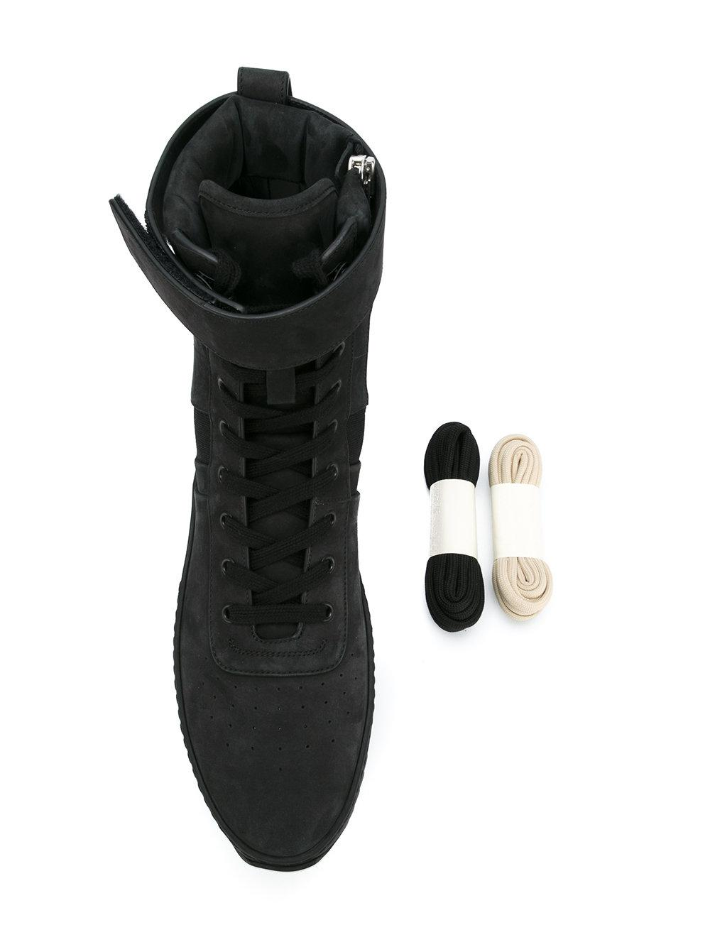Fear Of God Leather Lace-up Hi Top Sneakers in Blue