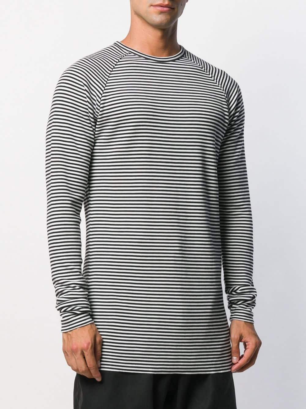 Haider Ackermann Wol Gestreepte Sweater in het Wit voor heren