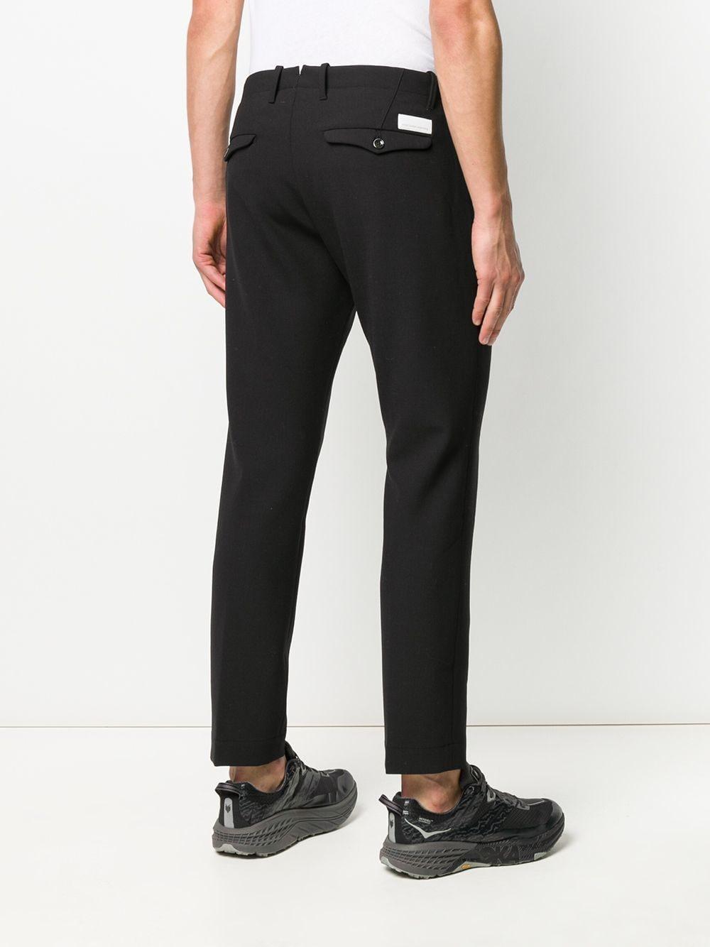 Nine:inthe:morning Wol Slim-fit Broek in het Zwart voor heren