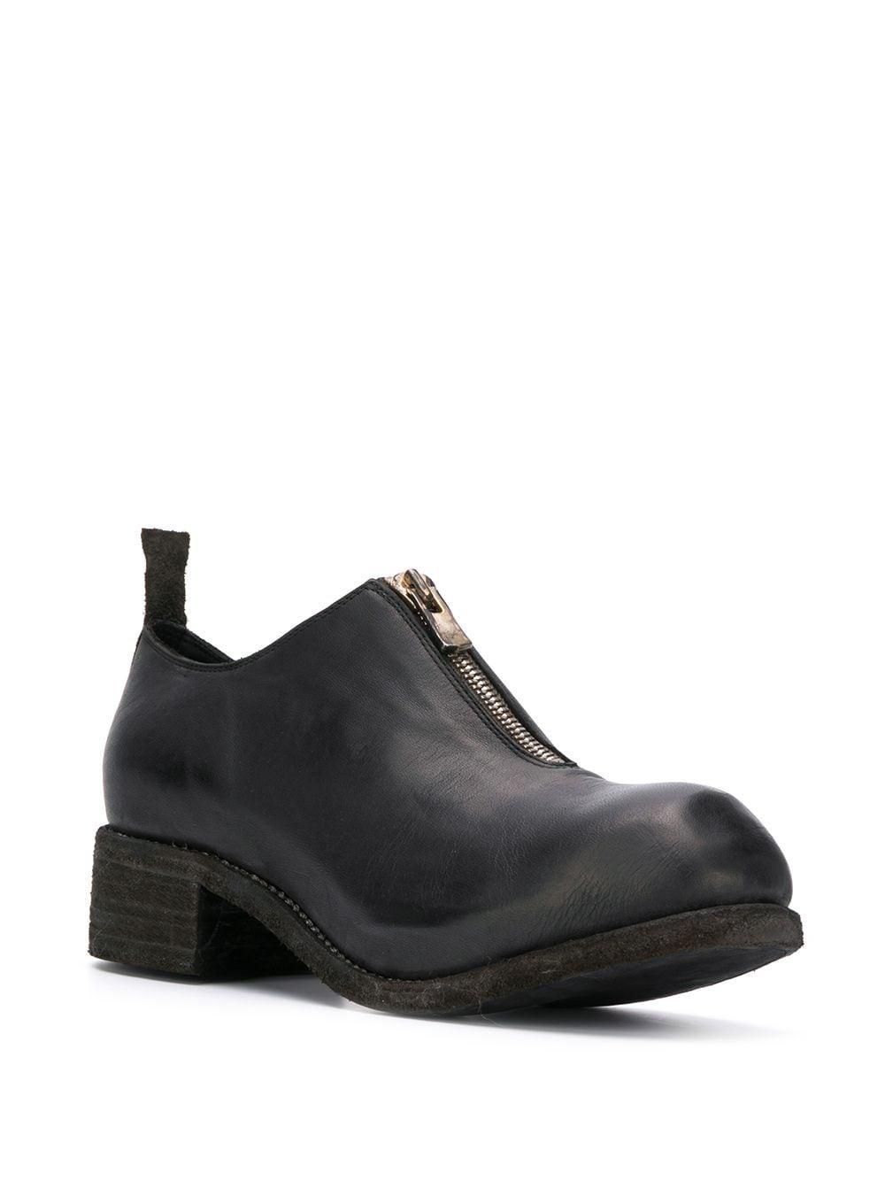 Guidi Leer Loafers Met Rits in het Zwart voor heren