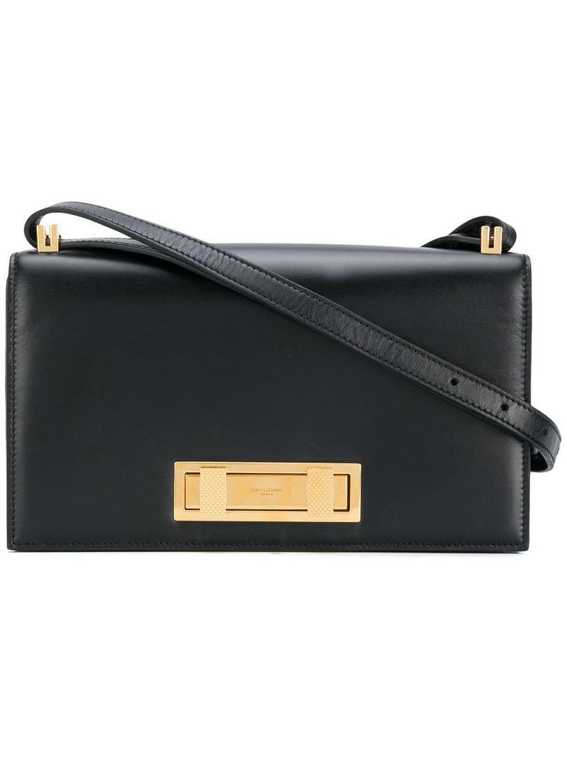 Lyst - Saint Laurent Domino Shoulder Bag in Black 244eabb45c1e6