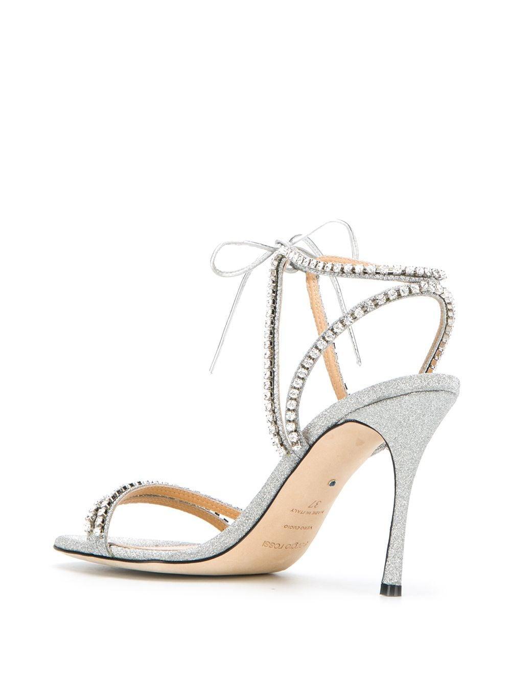 Zapatos de tacón de novia Godiva Sergio Rossi de color Metálico