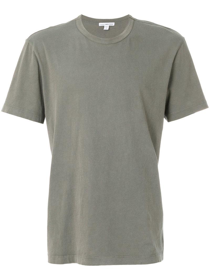 Lyst james perse plain t shirt in gray for men for James perse t shirts sale