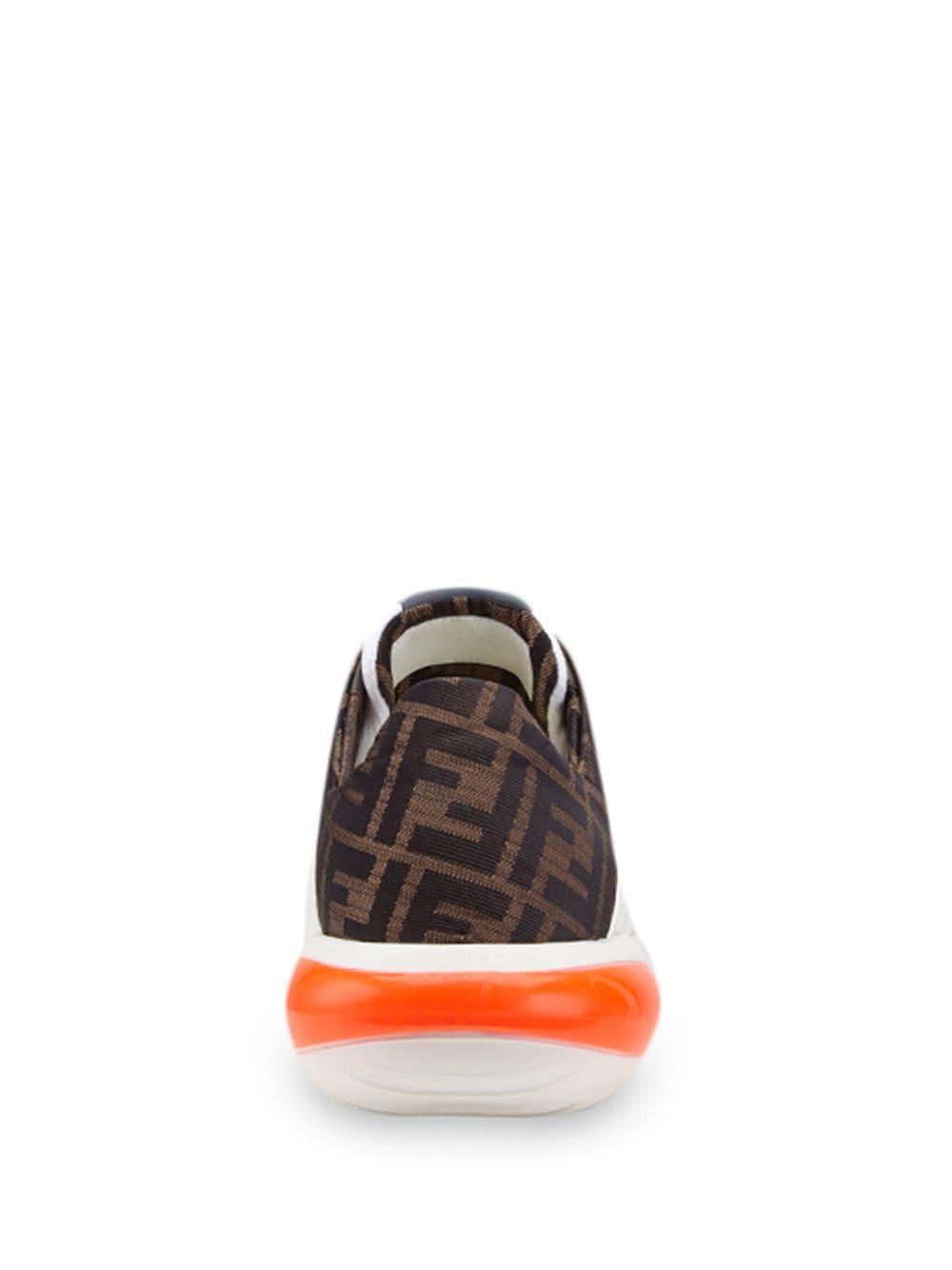 Zapatillas running con motivo FF Fendi de Cuero de color Blanco para hombre