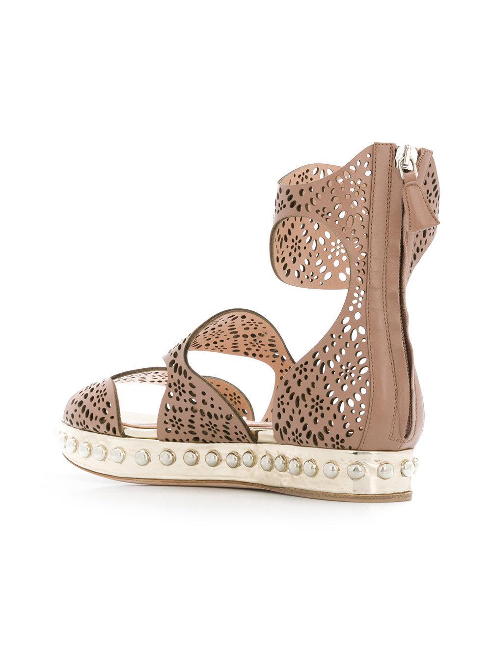 perforated strap sandals - Nude & Neutrals Giambattista Valli Ytq8AQ6XWl