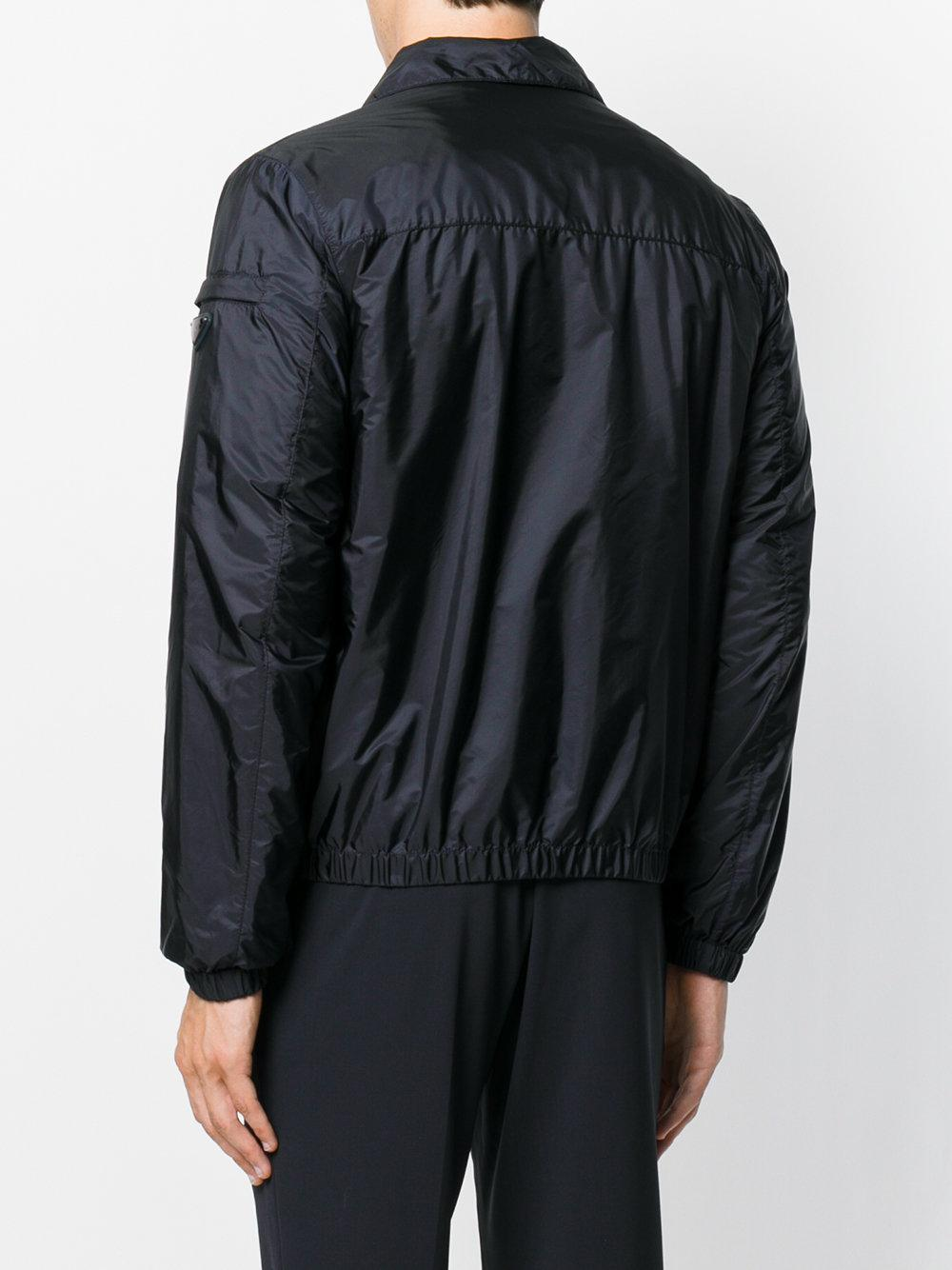 Prada Synthetic Bomber Jacket in Blue for Men