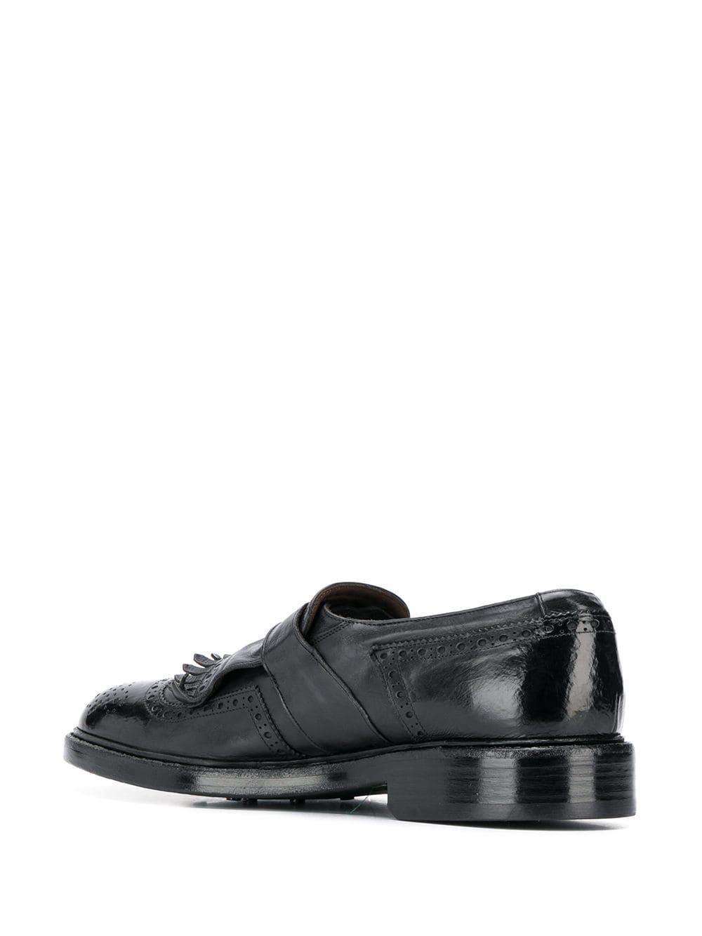 Zapatos monk con detalle de hebilla Green George de hombre de color Negro
