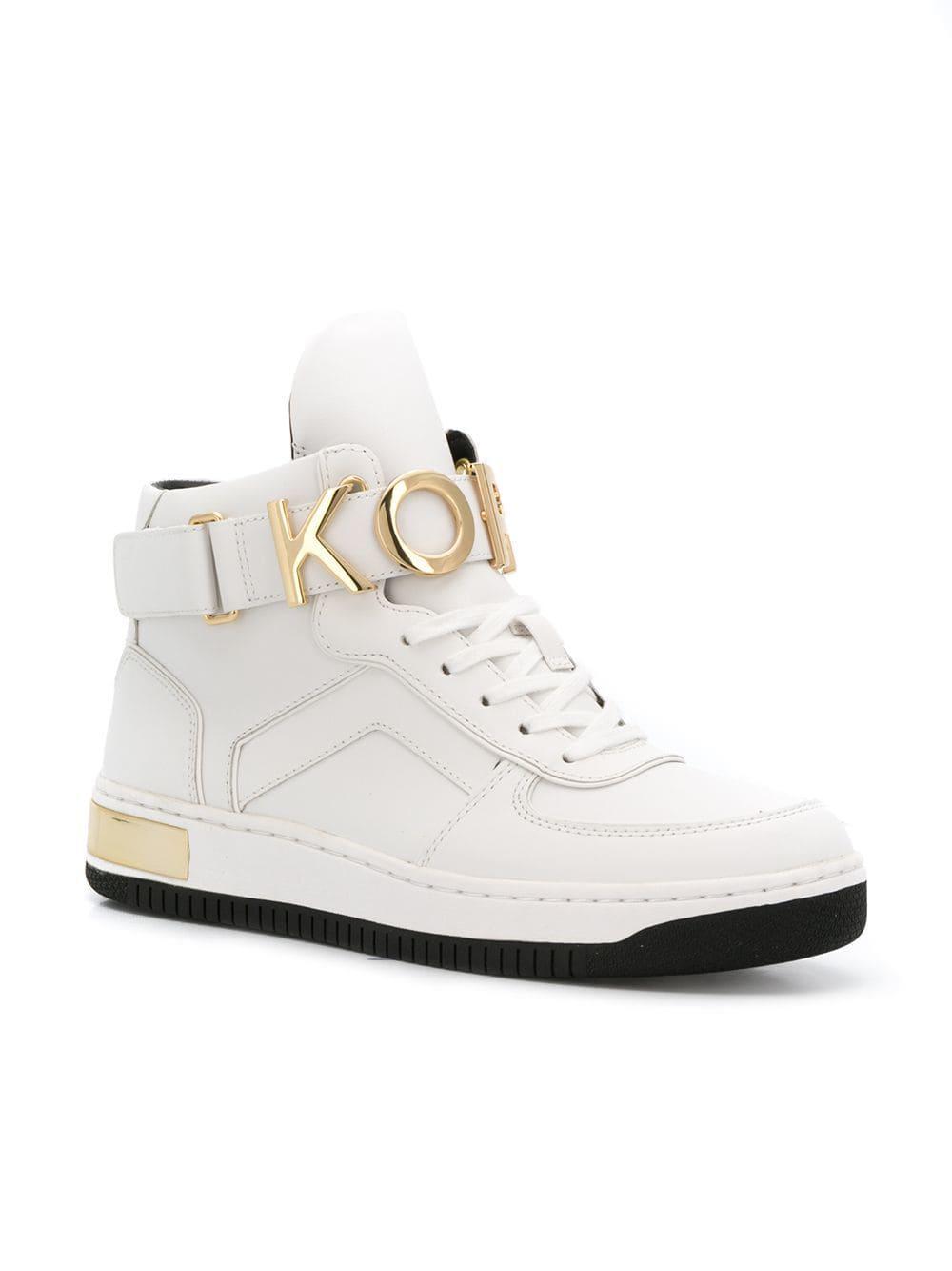e15dada34eb8 Lyst - Michael Michael Kors Strap Sneakers in White