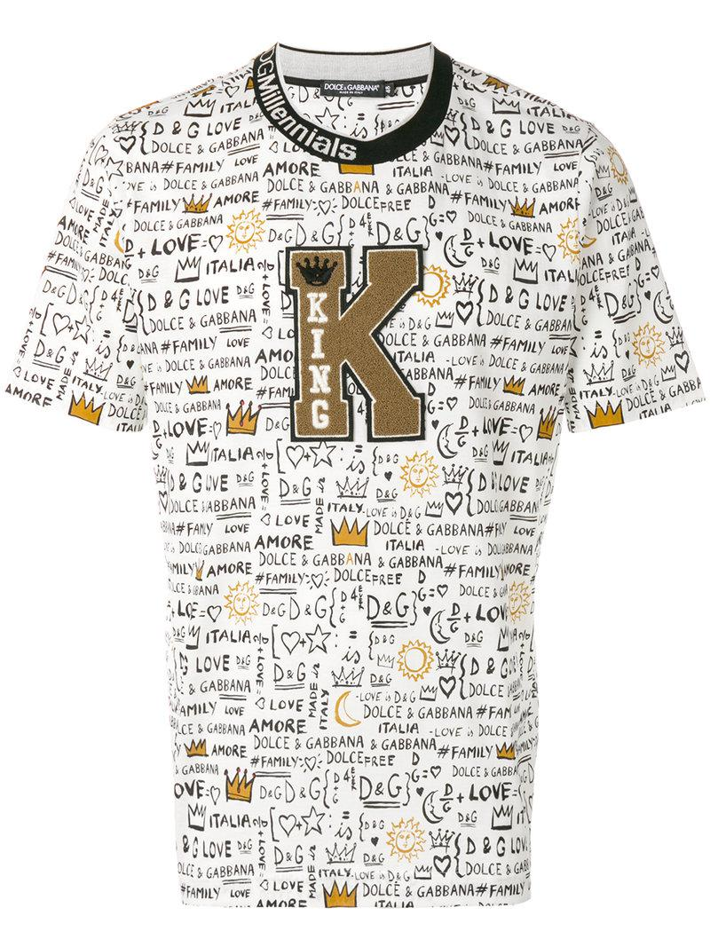 king patch T-shirt - Black Dolce & Gabbana From China Online Buy Cheap Find Great Supply Sale Online Outlet Sneakernews Cheap Fake 0iScJ
