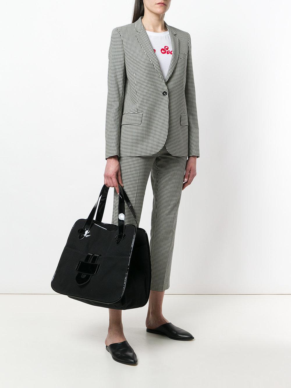 Tila March Leather Zelig Xl Tote Bag in Black