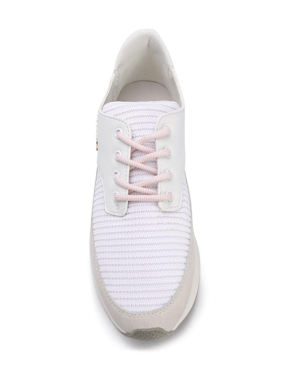 Baskets à semelle épaisse Cuir Versace Jeans en coloris Blanc uklw