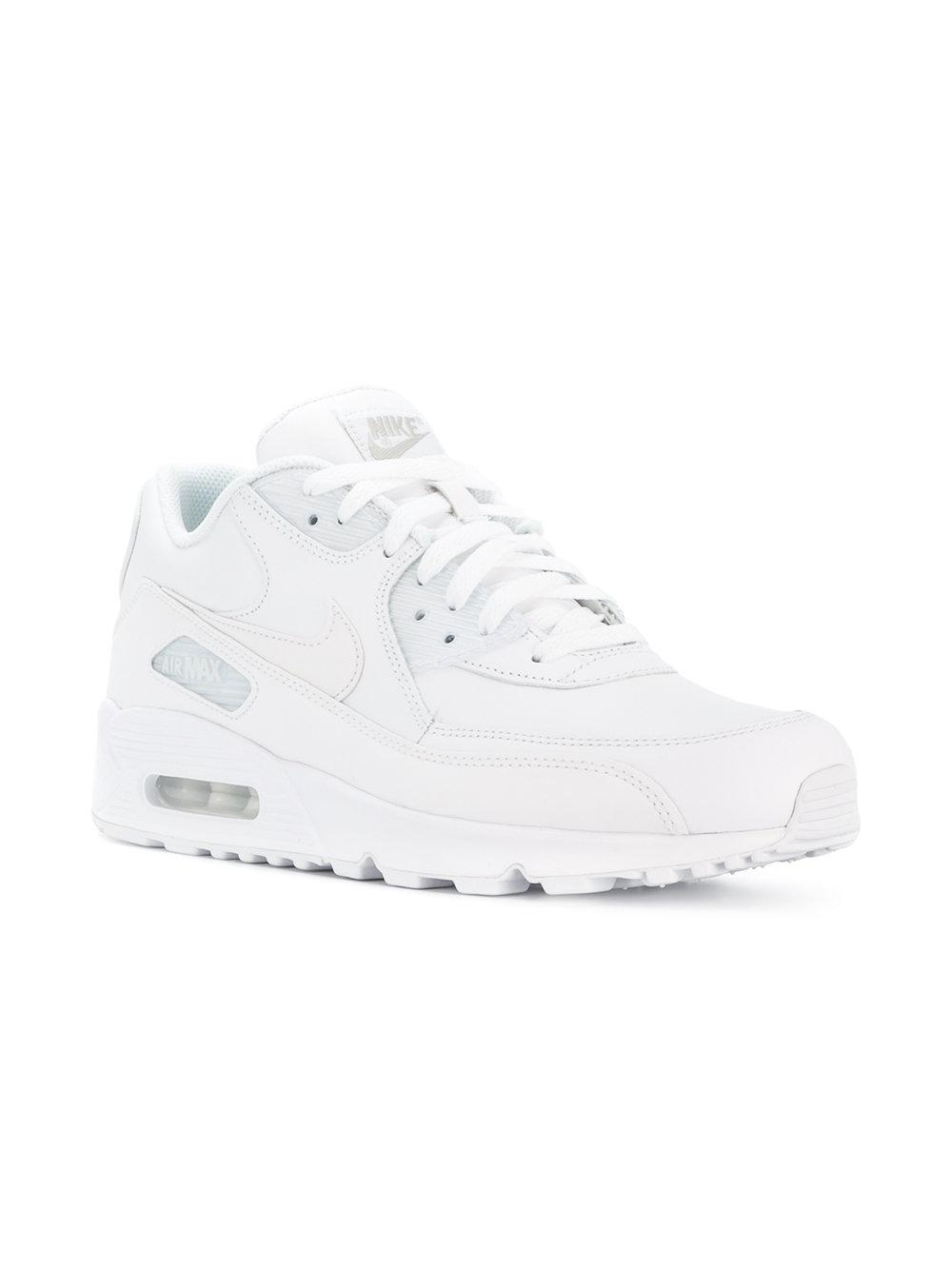 Nike Leather Air Max 90 Sneakers in White