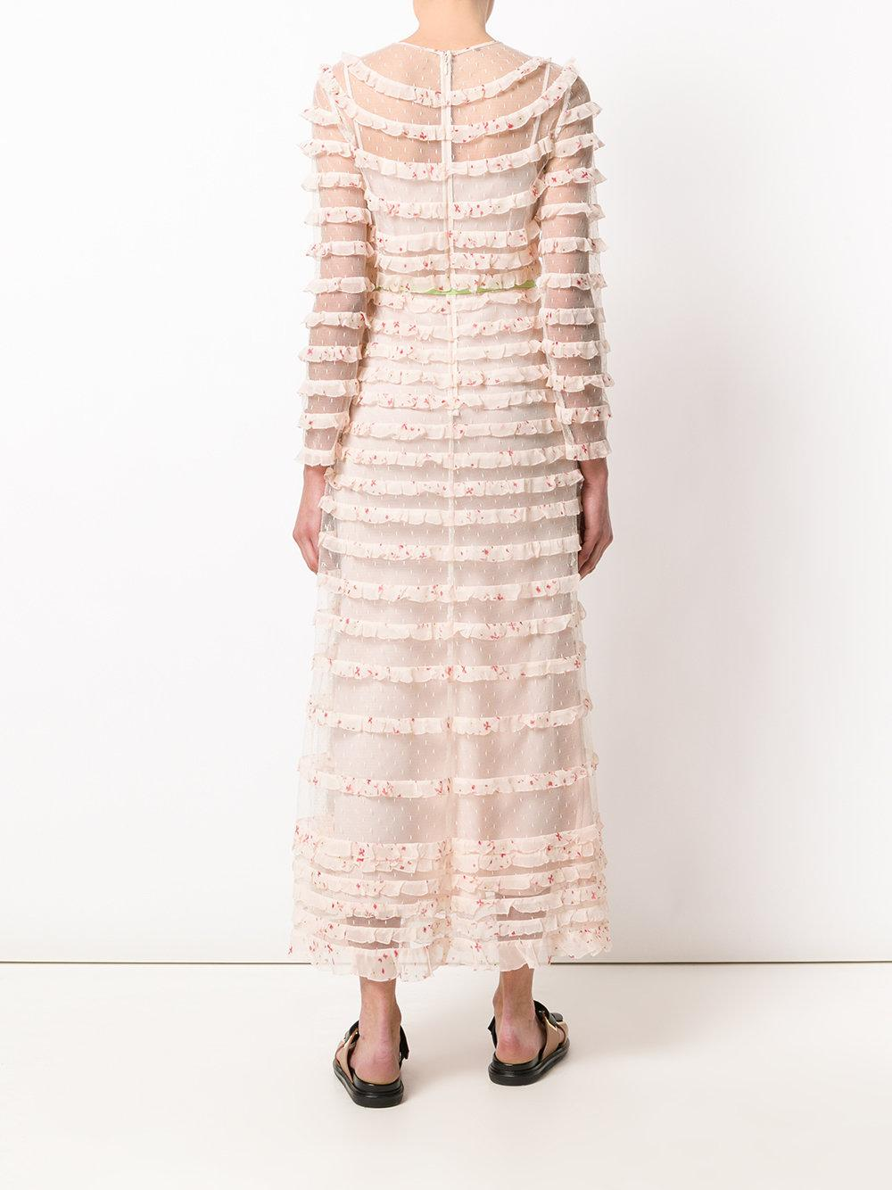 tiered maxi dress - Nude & Neutrals Red Valentino Clearance Finishline Top Quality Sale Online Clearance Store Cheap Price Footaction Sale Online xdA3Hvuwg