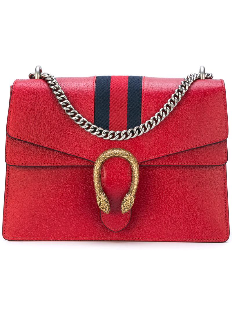 Gucci Dionysus Web Shoulder Bag in Red - Lyst 4a660c6e7b95e