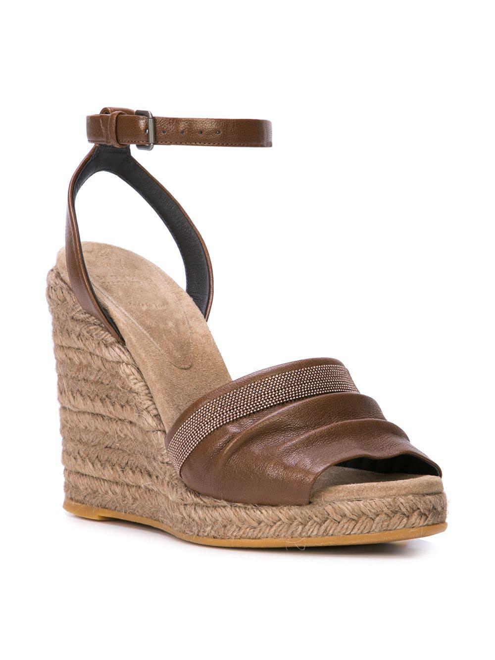 Wedge Brown Wedge Espadrille Women's Women's Espadrille Women's Sandals Sandals Brown dtshrCQ