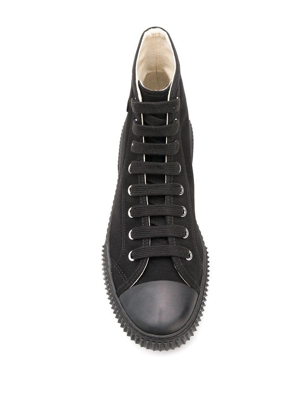 Baskets montantes à logo Coton Prada pour homme en coloris Noir m7Qr