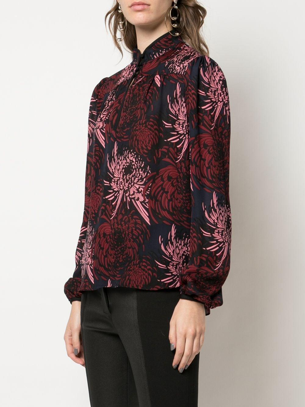 Blusa de manga larga con estampado floral A.L.C. de Seda