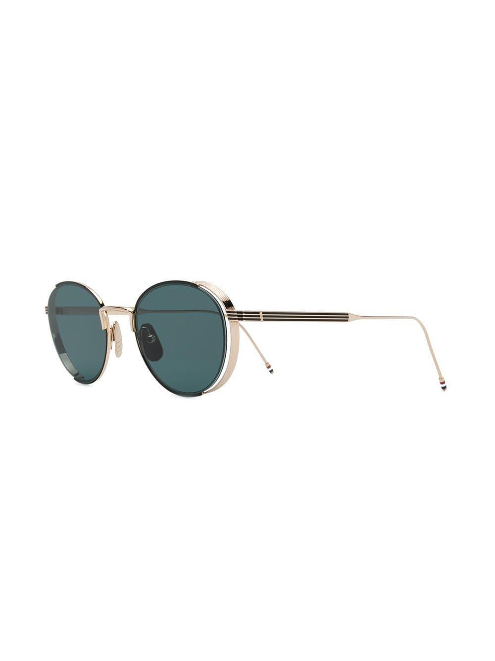 e41421757da Thom Browne - Metallic Round-framed Sunglasses - Lyst. View fullscreen